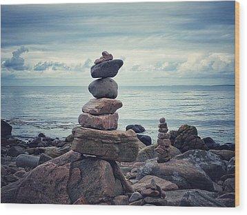 Still Zen Wood Print by Karen Stahlros