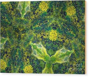 Stillness Wood Print by Denise Nickey