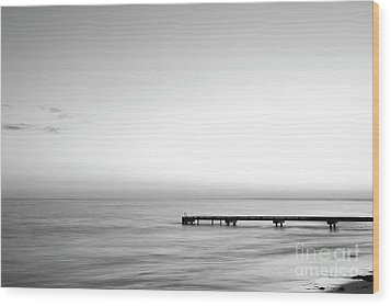 Wood Print featuring the photograph Stillness In Black And White by Ivy Ho