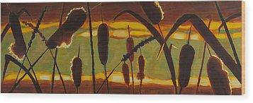 Stillness Of Light Wood Print