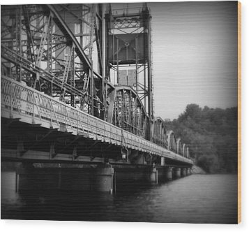 Stillwater Bridge  Wood Print by Perry Webster