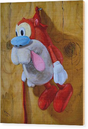 Wood Print featuring the painting Stimpy by Donelli  DiMaria