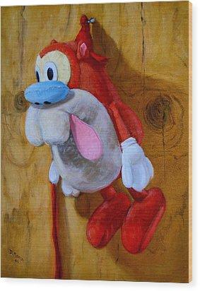 Stimpy Wood Print by Donelli  DiMaria
