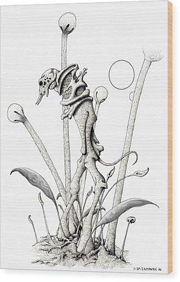 Stipplewalker Wood Print by J P Lambert