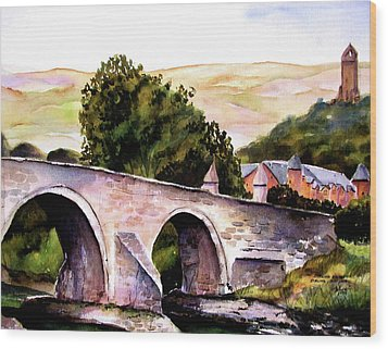 Wood Print featuring the painting Stirling Bridge by Marti Green