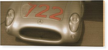 Stirling Moss 1955 Mille Miglia Winning 722 Mercedes Wood Print by John Colley