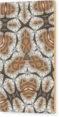 Stitched 2 Wood Print by Ron Bissett
