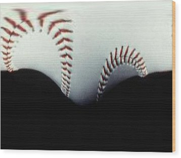 Stitches Of The Game Wood Print by Tim Allen