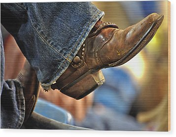 Stock Show Boots I Wood Print by Joan Carroll