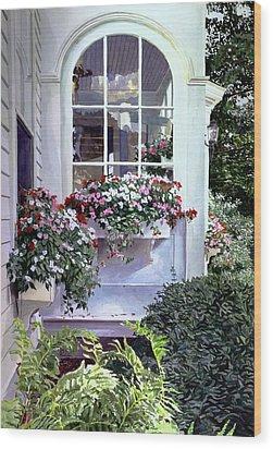 Stockbridge Window Boxes Wood Print by David Lloyd Glover