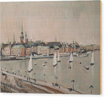 Stockholm Regatta Wood Print by Nop Briex