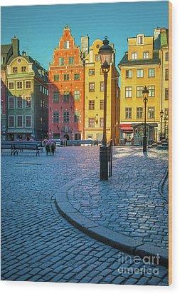 Stockholm Stortorget Square Wood Print by Inge Johnsson