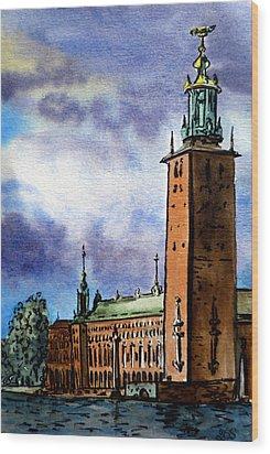 Stockholm Sweden Wood Print