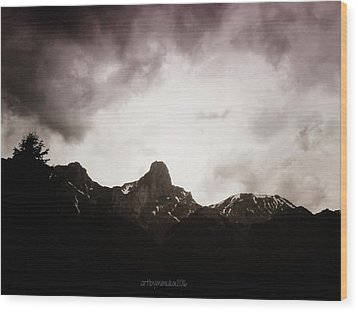 Wood Print featuring the photograph Stockhorn by Mimulux patricia no No