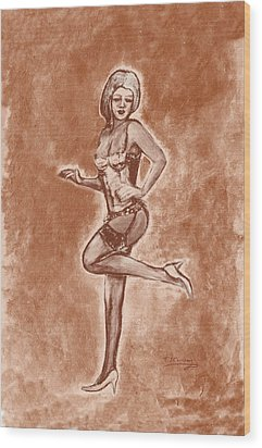 Stockings And Stilettos  Wood Print by Tom Conway