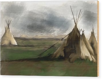 Wood Print featuring the painting Stolen Spirit  by Iconic Images Art Gallery David Pucciarelli