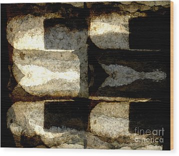 Stone Abstract Wood Print