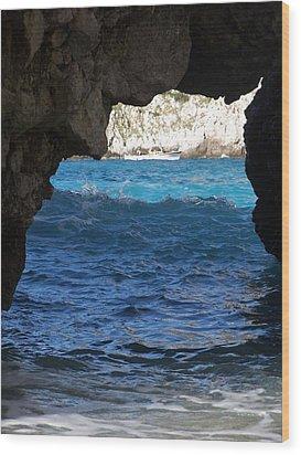 Stone And Sea 2 Wood Print by Adam Schwartz