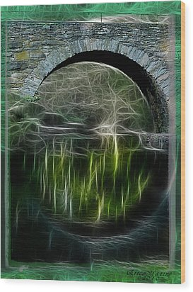 Wood Print featuring the photograph Stone Arch Bridge - Ny by EricaMaxine  Price