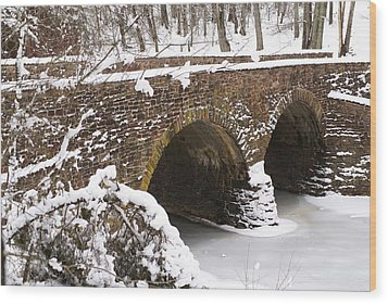 Stone Bridge At Bullrun Virginia Wood Print by Heidi Poulin