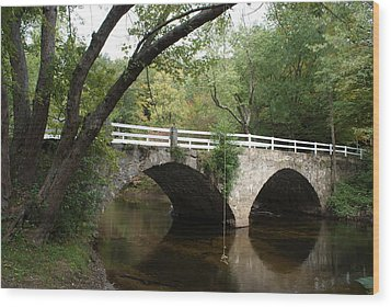 Stone Bridge Wood Print by Lois Lepisto