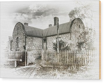 Stone Cottage Wood Print by Wayne Sherriff