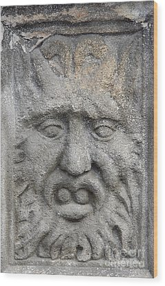 Stone Face Wood Print by Michal Boubin