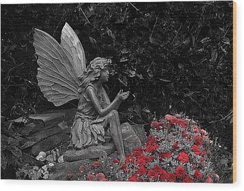Stone Fairy Wood Print