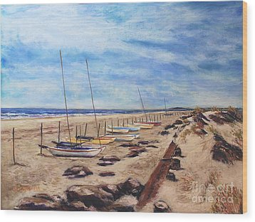 Stone Harbor Wood Print by Joyce A Guariglia