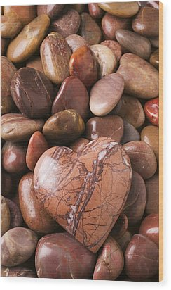 Stone Heart Wood Print by Garry Gay