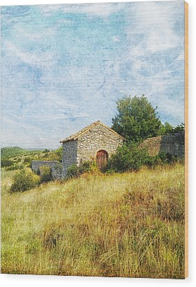 Provence Countryside Wood Print by Catherine Alfidi