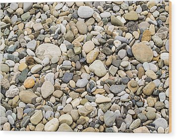 Stone Pebbles Patterns Wood Print by John Williams
