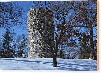 Stone Tower Wood Print by Lois Lepisto