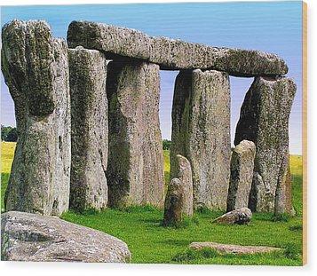 Stonehenge - England Wood Print by Jen White