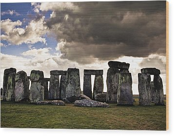 Stonehenge After The Storm Wood Print
