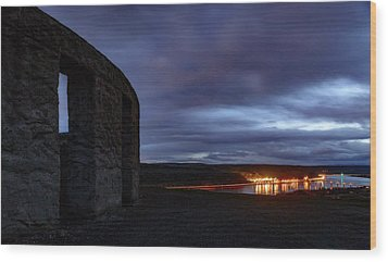 Wood Print featuring the photograph Stonehenge And The Columbia by Cat Connor