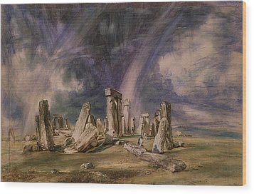 Stonehenge Wood Print by John Constable