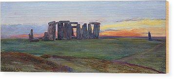 Stonehenge Wood Print by John William Inchbold