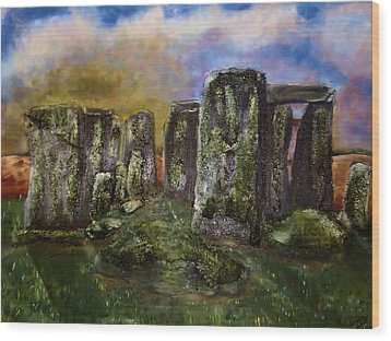 Stonehenge Wood Print by Shelley Bain