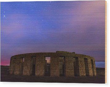 Wood Print featuring the photograph Stonehenge Sunrise by Cat Connor
