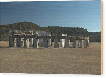 Wood Print featuring the photograph Stonehenge Two Texas by Karen Musick
