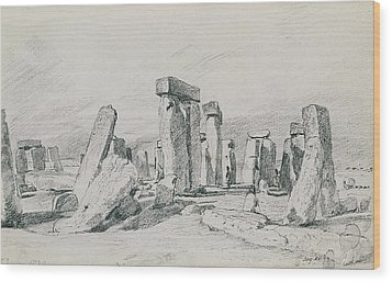 Stonehenge Wiltshire Wood Print by John Constable