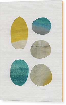 Stones- Abstract Art Wood Print by Linda Woods