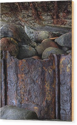 Rusted Stones 1 Wood Print