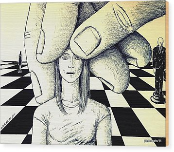Stones In The Chessboard Of Life Wood Print by Paulo Zerbato