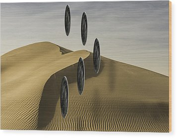 Stones Over Dunes One Wood Print by Kevin Blackburn