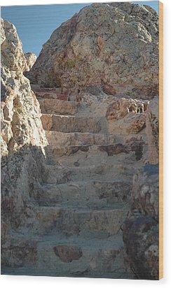 Stoneway Wood Print by Lori Mellen-Pagliaro