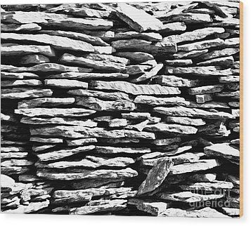 Stonework Wood Print by Evgeniy Lankin