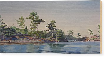 Stoney Lake Morning Wood Print by Debbie Homewood