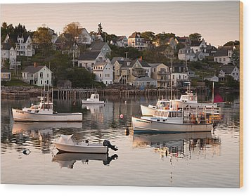 Stonington Harbor Wood Print